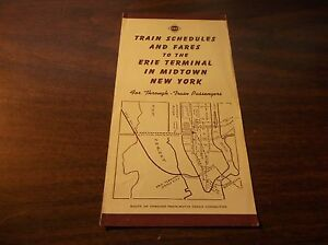 JANUARY-1943-ERIE-RAILROAD-TRAIN-SCHEDULES-AND-FARES-MIDTOWN-NEW-YORK-CITY