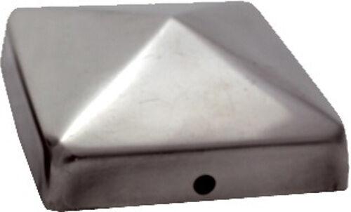 pfostenkappe v2a edelstahl 91x91 cm pyramide abdeckkappe pfosten 9x9 abdeckung ebay. Black Bedroom Furniture Sets. Home Design Ideas