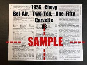 1956 CHEVROLET *V8* - Bel-Air, Corvette, Etc. (Wiring ...
