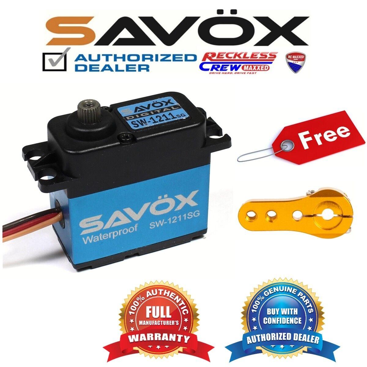 Savox SW-1211SG Waterproof HV Digital Servo + Free Aluminium servo horn oro