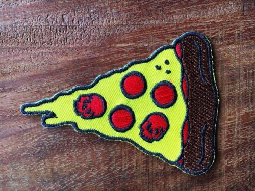 New Pizza Lapel Pin Skull Pizza Punk Rock Sourpuss NEW Enamel Pepperoni Skulls