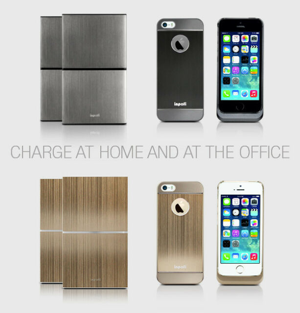new product 66afd be683 iNPOFi Wirelesscharging System for iPhone 5/5s Charcoal Fast Charge Kc001