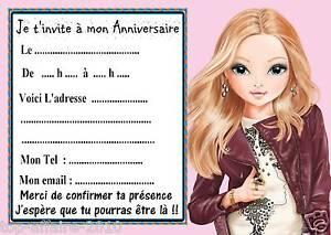 Détails Sur 5 Cartes Invitations Anniversaire Top Model 02