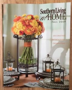 Southern Living At Home Catalog Fall 2009 Decor Styling Ideas Great Condition Ebay