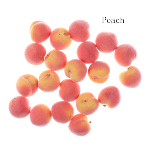 20X Mini Artificial Fake Fruit Plastic Fruits Home House Party Kitchen Deco JCDD