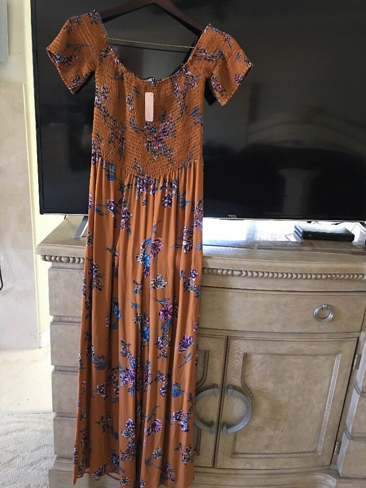 Brand New With Tag NWT Rust Jumpsuit Size Large Audrey 3+1