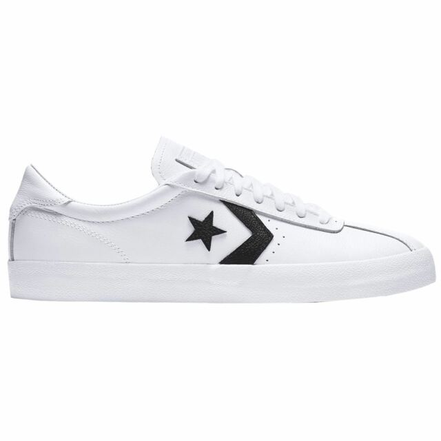 521349171504be Converse Breakpoint Ox White Black Unisex Leather Low-Top Lace-up Trainers