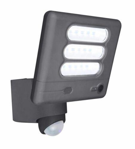 LED Außenleuchte Wandlampe Kamera Sensor Eco-Light Lutec Esa Cam 6255-CAM GR