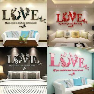 3D-Acrylic-Mirror-DIY-Wall-Home-Love-Decal-Mural-Decor-Vinyl-Art-Stickers-Modern