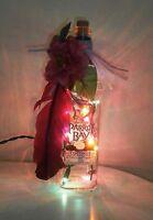 Wine Bottle Light / Nightlight - Captain Morgan Coconut Rum With Multi Lights