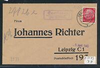 94213) DDR, Landpost - Ra2 Everingen über Oebisfelde, Fa.-Brief 1940