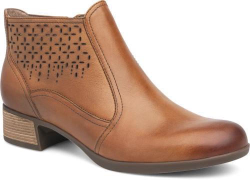 senza esitazione! acquista ora! Dansko Donna  Liberty Liberty Liberty Tan Leather Cut Out Ankle stivali Dimensiones 41  marchio famoso