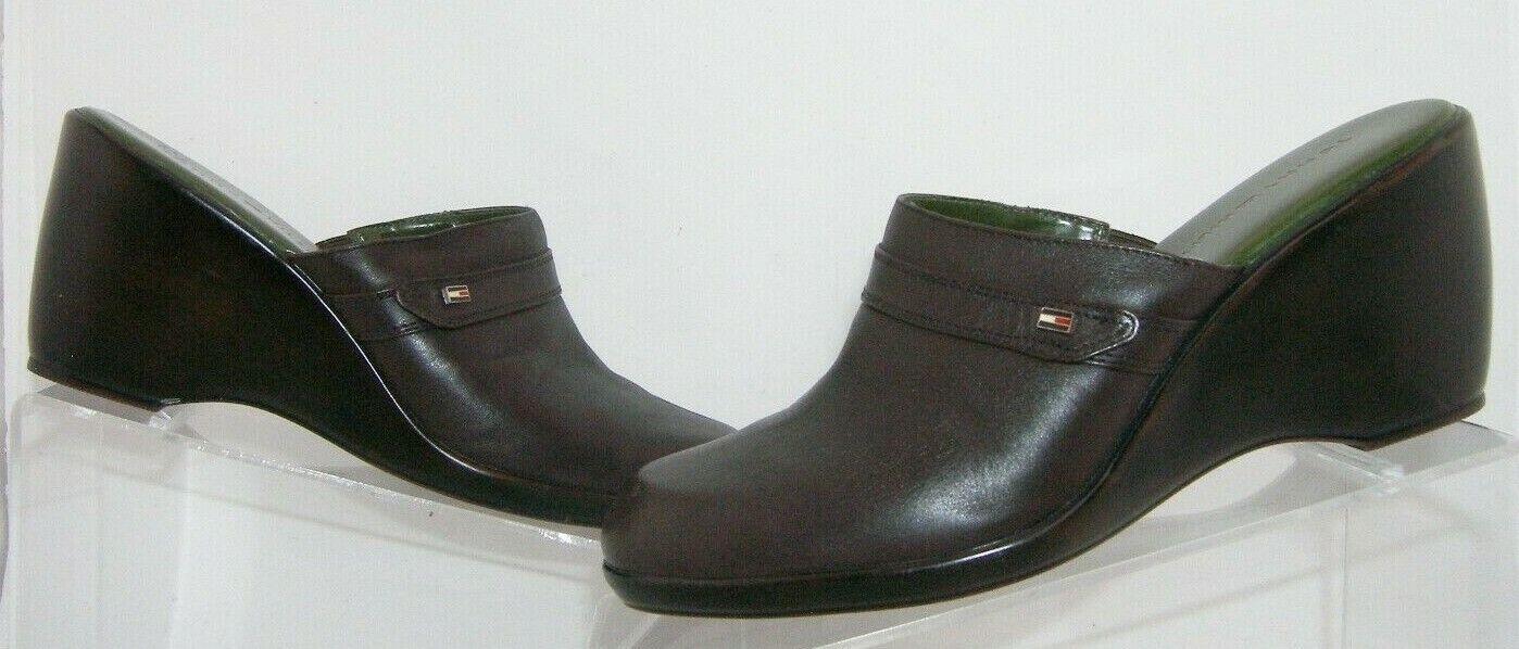 Tommy Hilfiger brown leather round toe slip on mu… - image 2