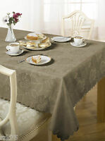 Damask Rose Table Cloth, Designer Table Cloths And Linen, Many Colours & Sizes