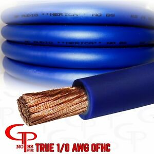 15 ft true awg 1 0 gauge copper power wire blue ground cable gp car Car Stereo Wiring details about 15 ft true awg 1 0 gauge copper power wire blue ground cable gp car audio usa