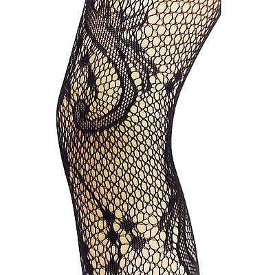 Hell New Womens Ladies Fishnet Lacey Patterned Tights Party Office Work One Size KöStlich Im Geschmack