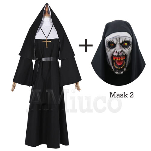 Nun Robes Dress For The Conjuring Scary Suit The Nun Valak Cosplay Women Costume