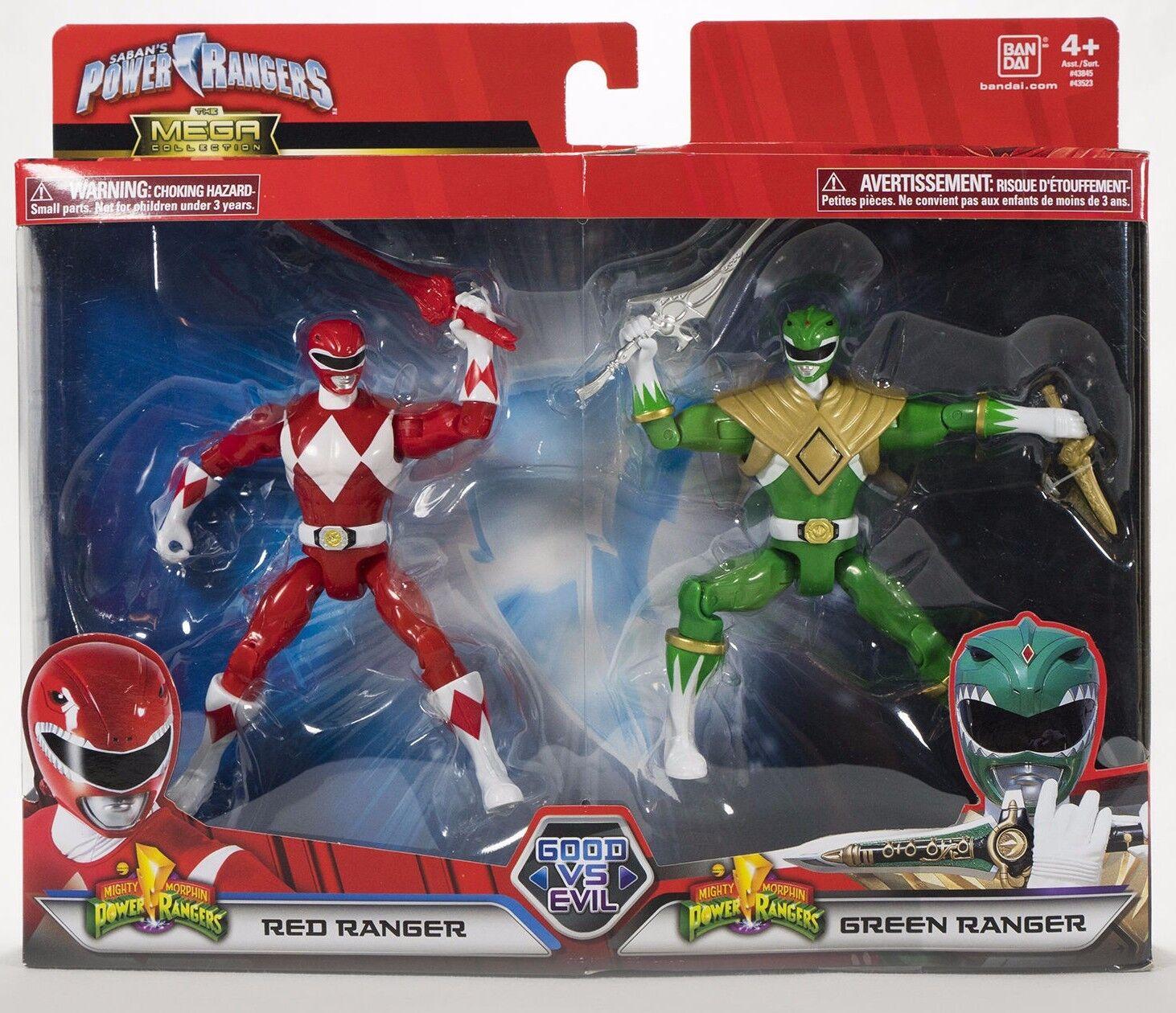 Mighty Morphin Power Rangers Legacy Good Vs Evil ROT & Grün Ranger Figures