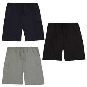 Mens-Plus-Big-Size-Jersey-Gym-Casual-Cargo-Cotton-Shorts-Bottoms-Size-3XL-6XL