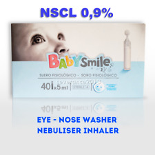 Baby Sterile Saline Nacl 09 Solution Nasal Eye Drops Contact Lens 50x 5ml Pods