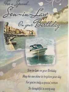 Image Is Loading Son In Law Birthday Card Loving Verse