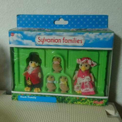 Vintage Sylvanian Families Calico Critters Duck Family Set Doll Epoch From Japan