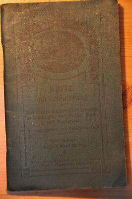 Fein Odenwald-klub: Karte M. Erläuterungen Touristenwege In Odenwald, Bergstraße 1908 Festsetzung Der Preise Nach ProduktqualitäT