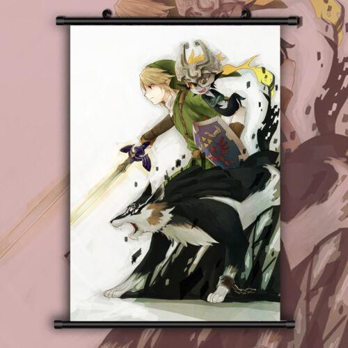 The Legend of Zelda no Densetsu Ocarina Anime Wall Poster Scroll Room Decor