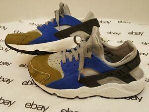Nike-WMNS-PRM-Womens-Sz-8-5-1-2-Air-Huarache-Run-Premium-Olive-Silver-683818-NSW