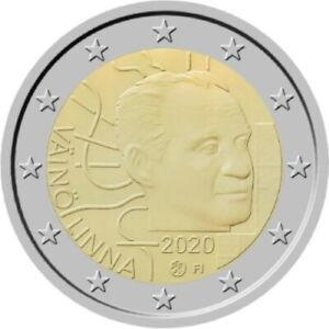 "FINLANDE PIECE 2 EURO COMMEMORATIVE 2020 ""100 ANS NAISSANCE VAINO LINNA"" NEUVE"