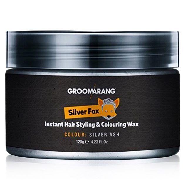 Hair Wax Men Women Grandma Silver Grey Ash Colour Dye Mud Temporary 100%Natural