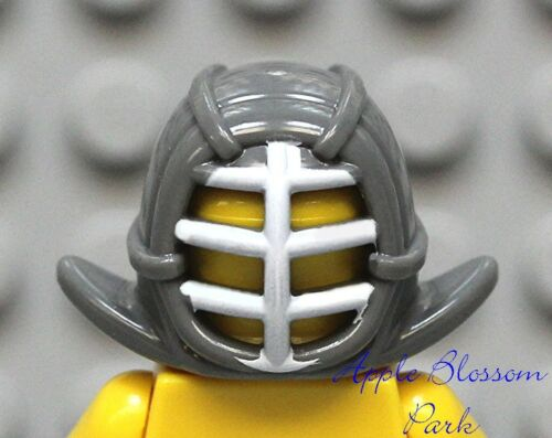 NEW Lego Ninjago Minifig Gray KENDO HELMET Kai Zane Cole Ninja Mask Head Gear