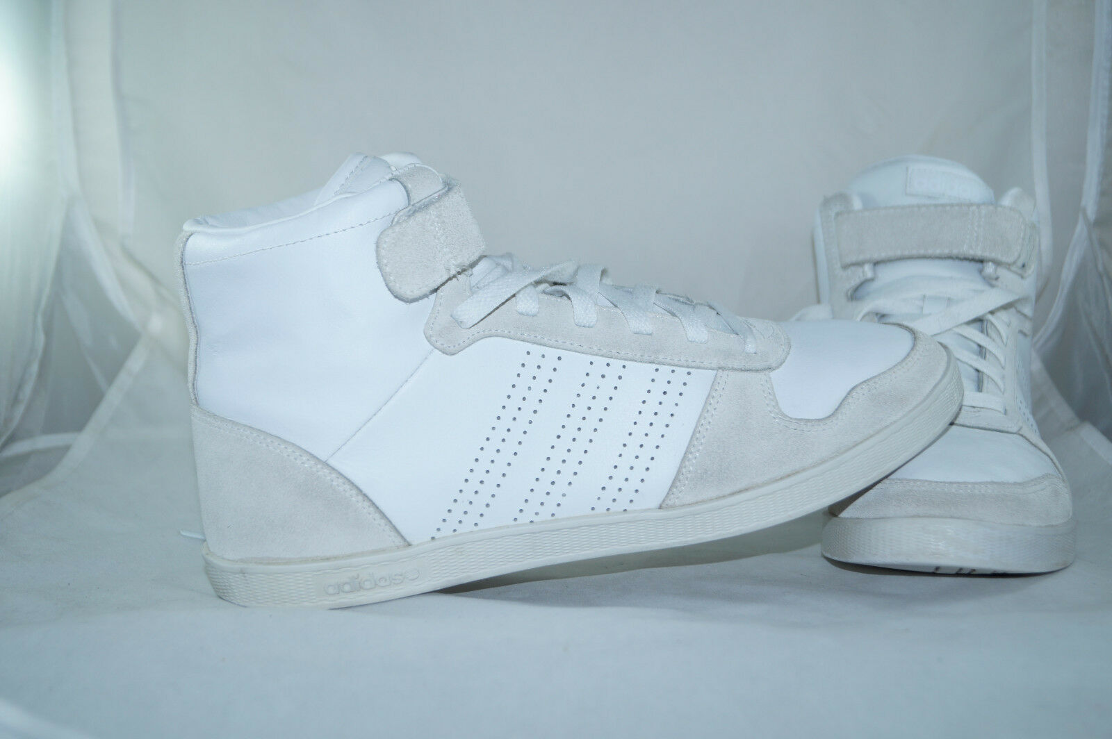 Zapatos casuales salvajes Adidas neo bbpure High Tops Weiss Trainers gr:43 1/3 blanco