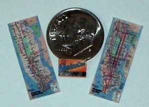 Nyc Subway Map Cards.Details About Miniature Nyc Bus Map Subway Map And Metro Card