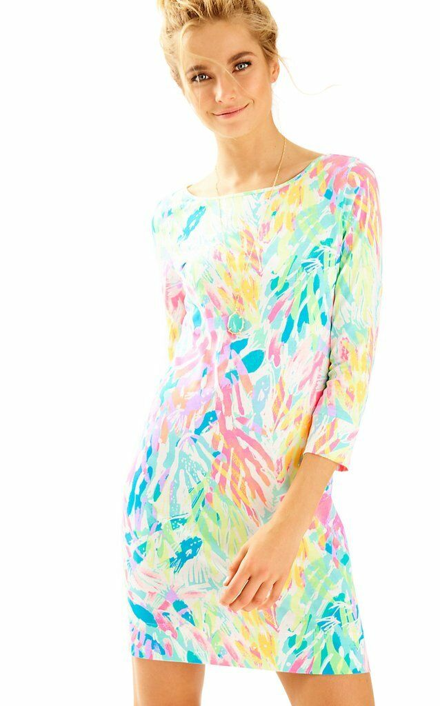 NWT Lilly Pulitzer Marlowe Multi Sparkling Sands Pima Cotton Jersey Dress