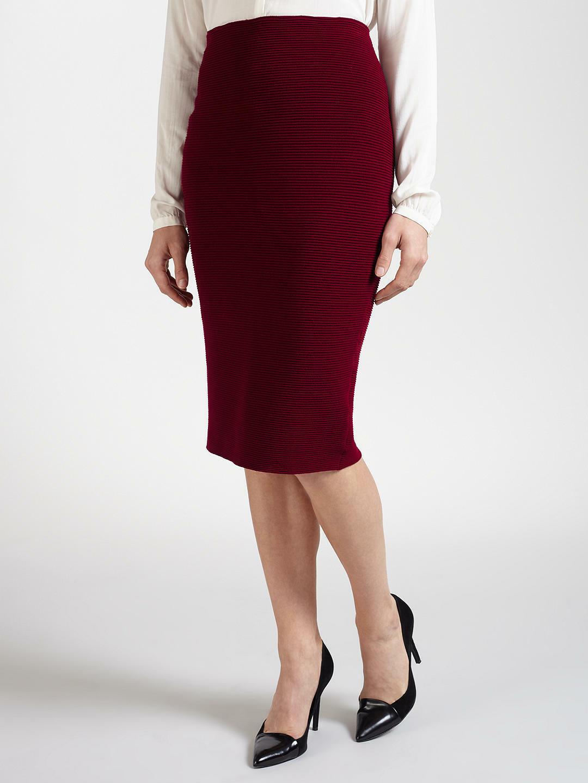 GERRY WEBER - BNWT - Rib Knit Pencil Skirt Skirt Skirt - Marsala - UK Größe 10 12 or 20   Lassen Sie unsere Produkte in die Welt gehen  7667e2