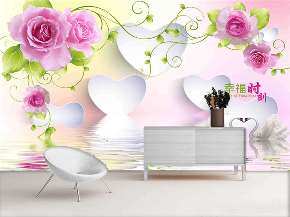 Vivid Enormous Lotus 3D Full Wall Mural Photo Wallpaper Printing Home Kids Decor