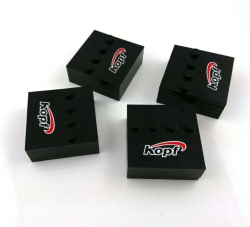 16 X CUSTOM PRINTED LOGO BASEPLATES PACK FOR LEGO BRICK MINIFIGS MINIFIGURES