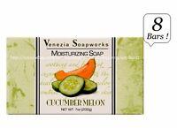 8x Bars Venezia Soapworks Pure Vegetable Soap Cucumber Melon Triple Refined 7 Oz