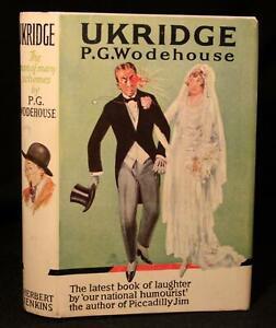 P G Wodehouse Ukridge 1924 11th Printing W Nice Dj Jeeves Author Ebay