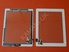 Per iPad 2 touch screen digitizer vetro di ricambio bianco con pulsante Home Completo