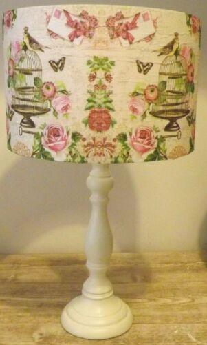 shabbychic Pink scriptFREE GIFT Pink Birdcage Lampshade,Light shade