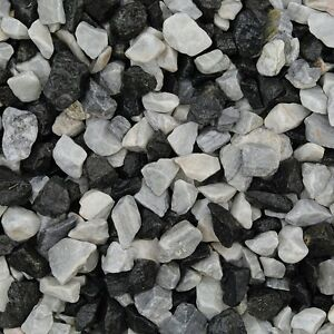 Decorative Stone Black Ice Chippings 875 Kg Basalt Marble