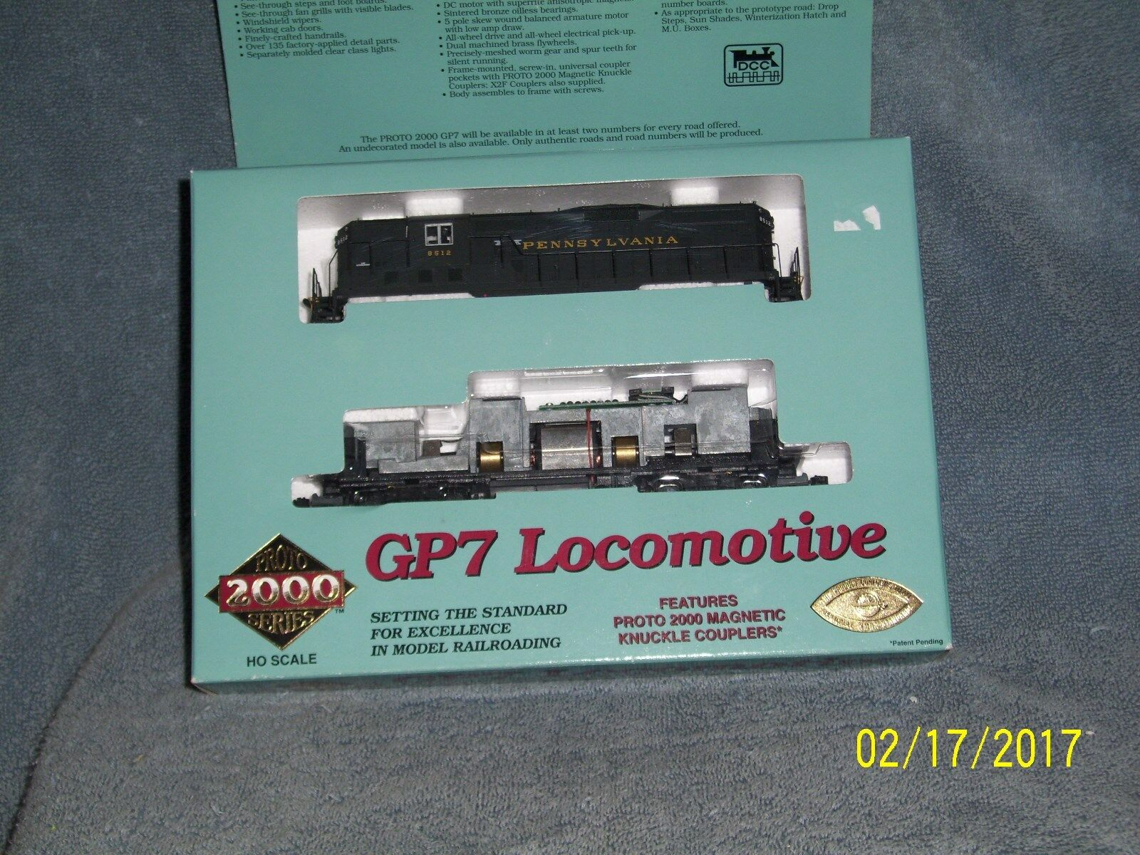 moda ProssoO 2000 2000 2000 HO SCALE  23044 GP7 Ph l l PRR  8512 w DYNAMIC BRAKES & DROP STEPS  in vendita online