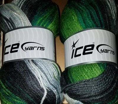 2 SKEINS//BALLS OF FAVORITE MAGIC BY ICE YARNS ~ MULTI-COLOR