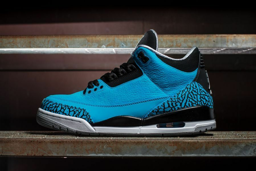 NEW IN BOX  MENS NIKE AIR JORDAN RETRO 3 III POWDER BLUE 136064-406 SZ 10.5-12