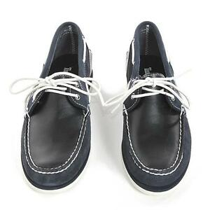 Timberland Women s Classic Boat Shoes Flat sole Leather Navy Blue ... f15857456