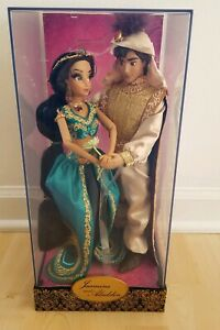 DISNEY-JASMINE-AND-ALADDIN-FAIRYTALE-DESIGNER-DOLL-SET-NEW