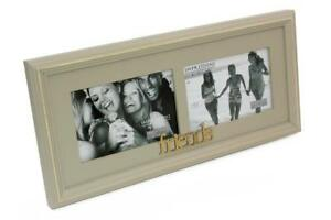 Personalised Woof Dog Photo Frame Vintage Rustic Style With Sentiments 56890-P