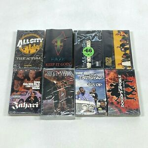 NEW-Lot-8-Cassette-Tapes-Single-90s-Rap-Hip-Hop-Mase-Snoop-Dogg-Thugz-Nation